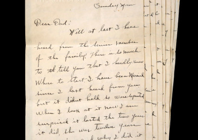 Clark Gable Handwritten Letter to his Father