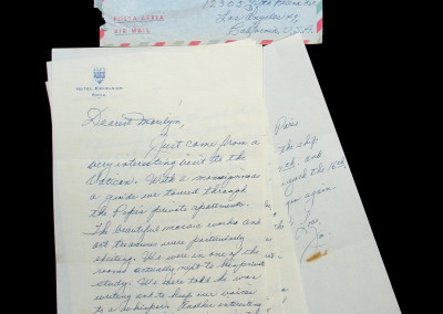 Joe DiMaggio Letter to Marilyn Monroe