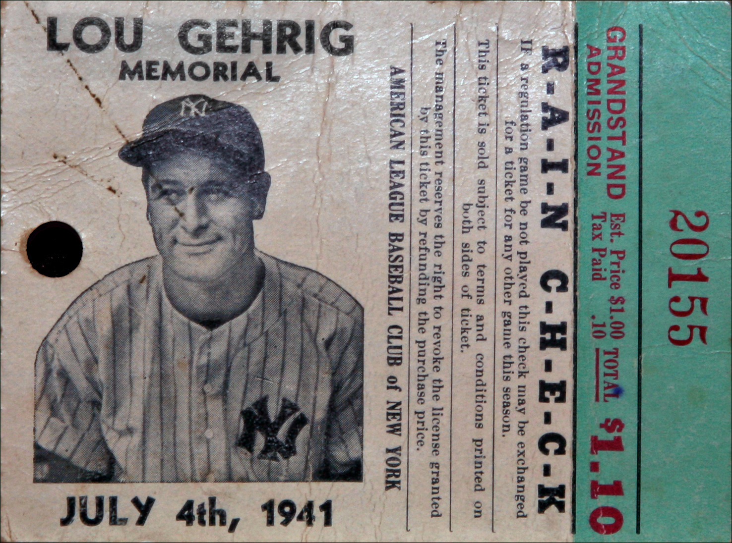 Lou Gehrig Rain Check copy