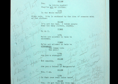 "Marilyn Monroe's personal script from ""Something's Gotta Give"""