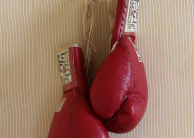 Sugar Ray Leonard's Fight-worn gloves from 1980 bout vs. Roberto Duran