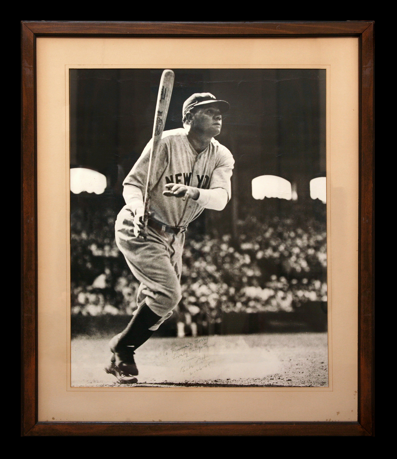 Large Signed Babe Ruth Photo