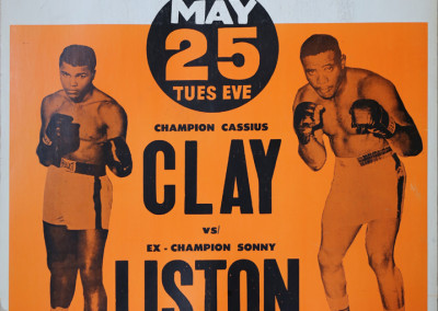 1965 poster for Cassius Clay vs. Sonny Liston bout