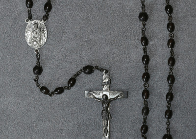 Knute Rockne Rosary Beads and Cross