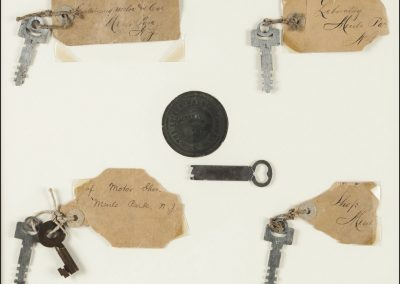 Thomas Edison's keys to his Menlo Park Laboratory