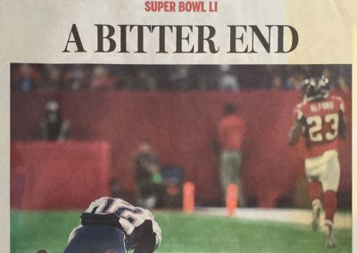 Boston Globe Publishes Early after Superbowl 51